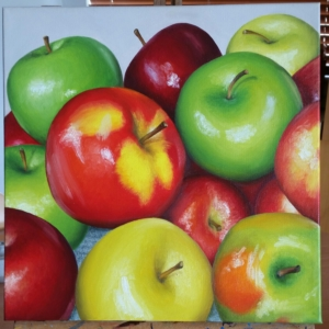 SOLD Ana Aguerrevere Your Apples 12x12