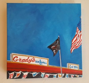 SOLD April Renee Kirk - Grady's Bar and Grill 12x12