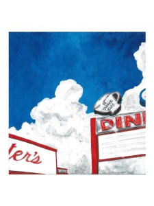 SOLD April Renee Kirk - Lesters Diner 12x12