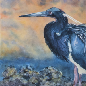 SOLD Bunny Sheffield Blue Heron_12x12