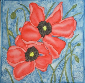 Dawn V- Poppies-WC