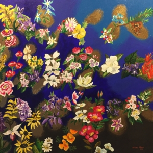 SOLD Isabel Perez Salazar Flowers for you. 30 x 30 in