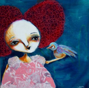 SOLD The Bird Whisperer - Jen Walls 12X12